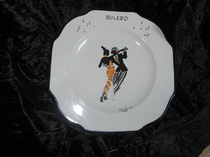 "Assiette "" Jazz "" Boléro"