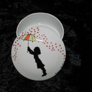 Boîte à bijoux « Petite Fille au parapluie »
