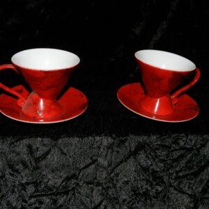 Duo Tasses « Amour Eternel » rouge et platine