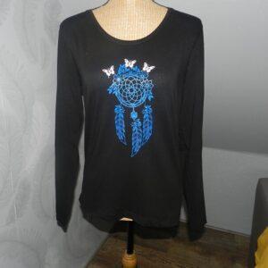 "T-shirt noir "" Attrape Rêves & Papillons """