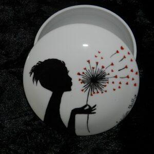 """Boîte à bijoux """" Petite Fille à la Fleur """""""